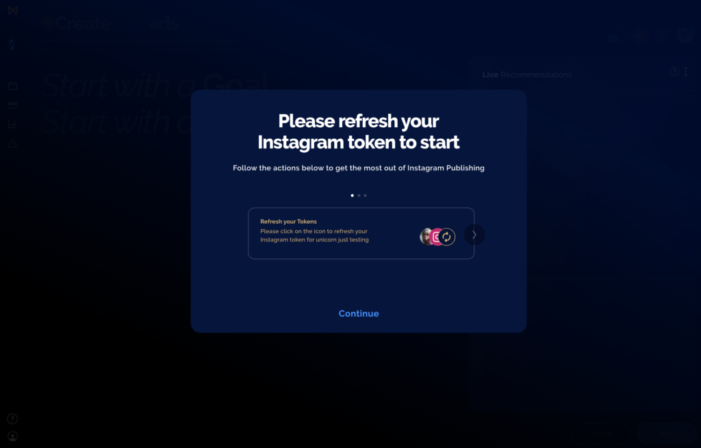 How to refresh your Instagram token in Metigy's social media management tool