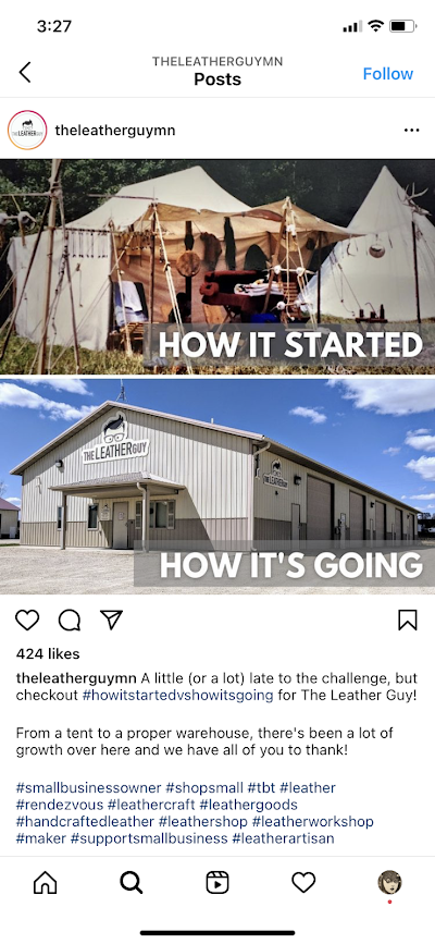 Comparing your history can be a fun way of visual storytelling on Instagram.